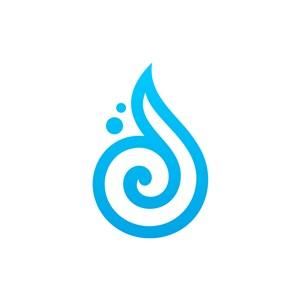 宽带流量互联网logo设计-蓝色云朵形状矢量logo图标素材下载