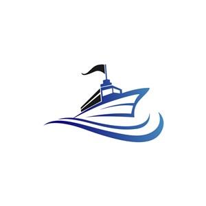酒店旅游logo设计--轮船logo图标素材下载