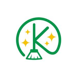 家居logo设计--扫帚字母Klogo图标素材下载