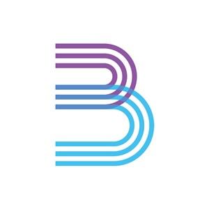 个性条纹英文字母B图标素材下载