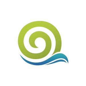 设计传媒logo设计--蜗牛与字母Q标志图标素材下载