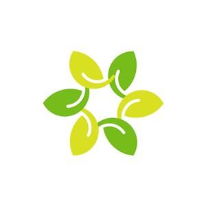 家居logo设计--树叶花环logo图标素材下载