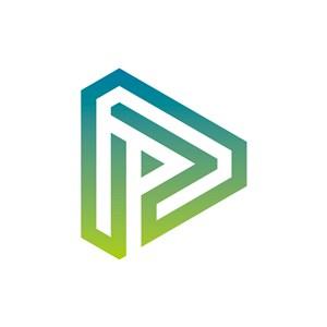 设计传媒logo设计--三角形A字母logo图标素材下载