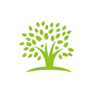 家居地产logo设计--大树logo图标素材下载