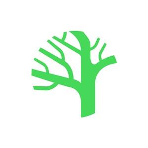 家居logo设计--抽象树logo图标素材下载