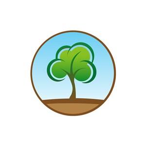 家居地产logo设计--树logo图标素材下载