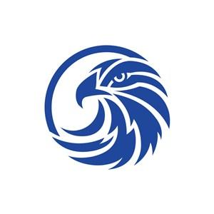 蓝色鹰矢量logo图标素材下载