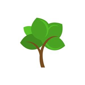 家居logo设计--卡通树logo图标素材下载