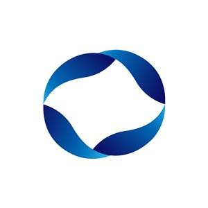 蓝色圆环科技矢量logo图标素材下载