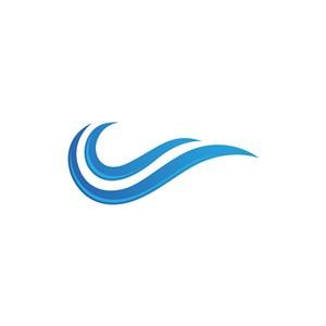 蓝色祥云矢量logo图标素材下载