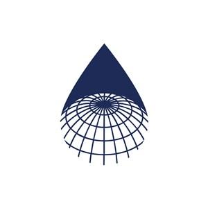 蓝色水滴形科技矢量logo图标素材下载