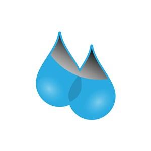 蓝色水滴矢量logo图标素材下载