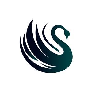 酒店logo设计--天鹅logo图标素材下载