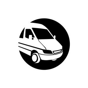 商务贸易logo设计--面包车快递运输logo图标素材下载