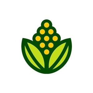 绿色食品logo设计--花logo图标素材下载