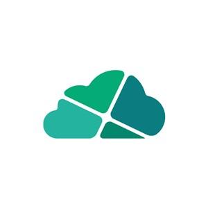 设计传媒logo设计--抽象云朵logo图标素材下载