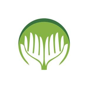 家居环保logo设计--双手logo图标素材下载