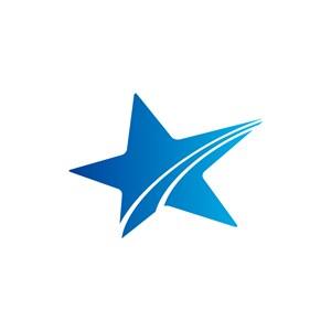 蓝色星星矢量logo图标素材下载