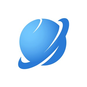 蓝色星球宇宙矢量logo图标素材下载