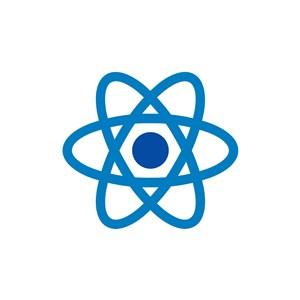 蓝色星球围绕矢量logo图标素材下载