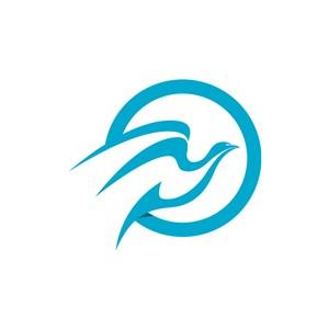 蓝色小鸟矢量logo图标素材下载
