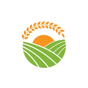 谷物食品logo设计--田园麦穗logo图标素材下载