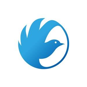 蓝色小鸟相关矢量logo图标素材下载