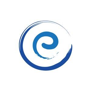互联网logo设计-蓝色字母e字母标志设计素材下载