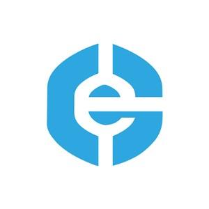 互联网logo设计-蓝色e字母标志设计素材下载