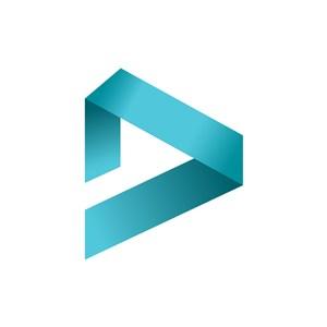 播放器logo设计-蓝色字母D字母标志设计素材下载