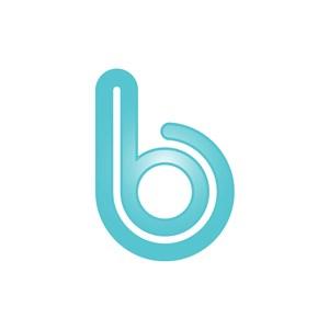 蓝色字母b字母标志设计素材下载