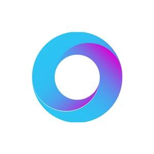 蓝色紫色圆环矢量logo图标素材下载