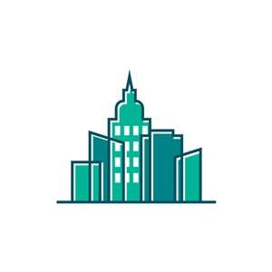 绿色建筑矢量logo图标素材下载