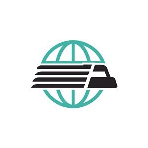 绿色货车丢球矢量logo图标素材下载
