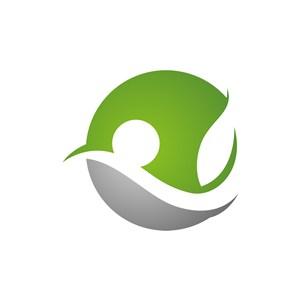 绿色灰色叶子矢量logo图标素材下载