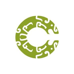 綠色古代青銅時代logo圖標素材下載
