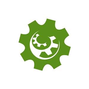 绿色齿轮矢量logo图标素材下载