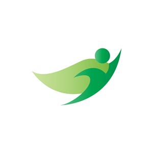 绿色超人矢量图logo图标素材下载