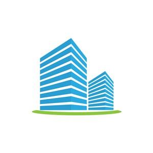 地产logo设计-楼房矢量图logo图标素材下载