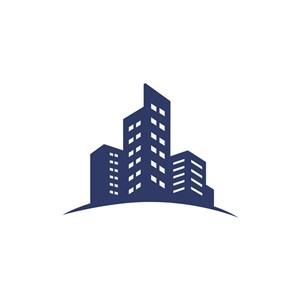 地产logo设计-楼房建筑矢量图logo图标素材下载