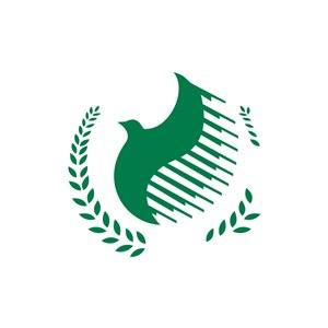 绿色和平鸽矢量logo图标素材下载