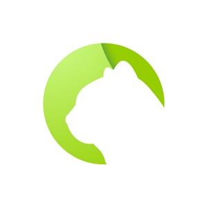 绿色猫头像矢量logo图标素材下载