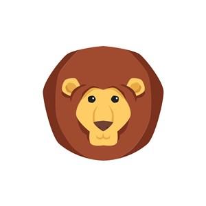 玩具logo设计--卡通狮子logo图标素材下载