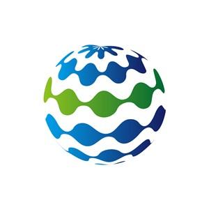 网络科技logo设计--球logo图标素材下载