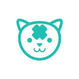 绿色猫矢量logo图标素材下载