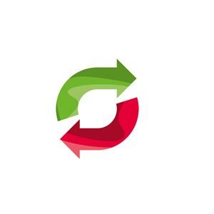 绿色红色循环标志矢量logo图标素材下载