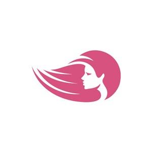 美容美发logo设计--女性图像logo图标素材下载