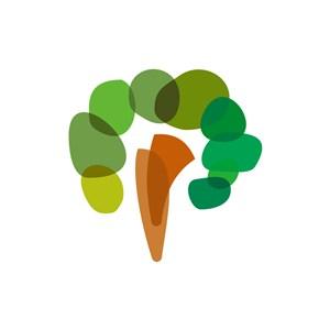绿色大树矢量logo图标素材下载