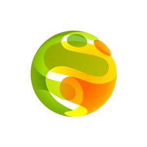 绿色橙色娱乐矢量logo图标素材下载