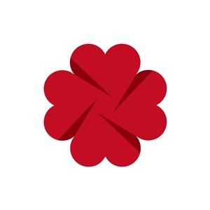 立体爱心创意矢量logo图标素材下载